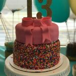 13 Birthday Cake Sprinkle Birthday Cake For 13 Year Old Girl 13th Bday Ideas
