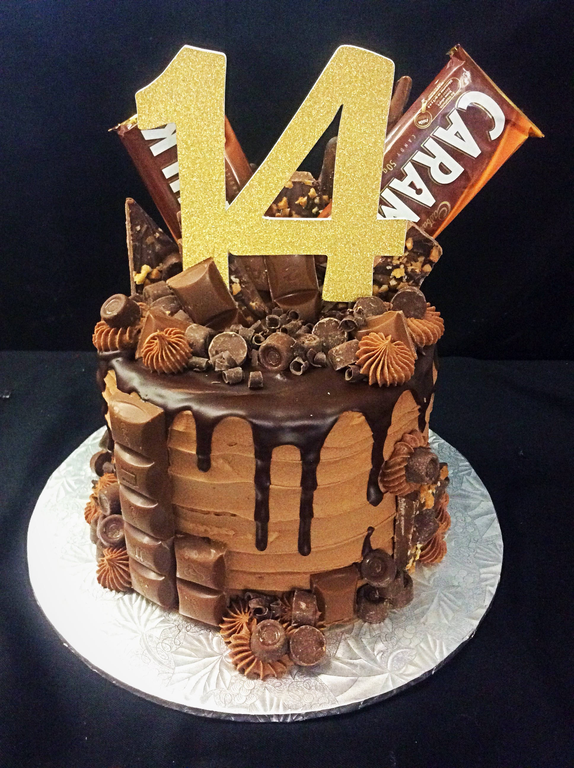 14Th Birthday Cake 14th Topper Number 14 Etsy