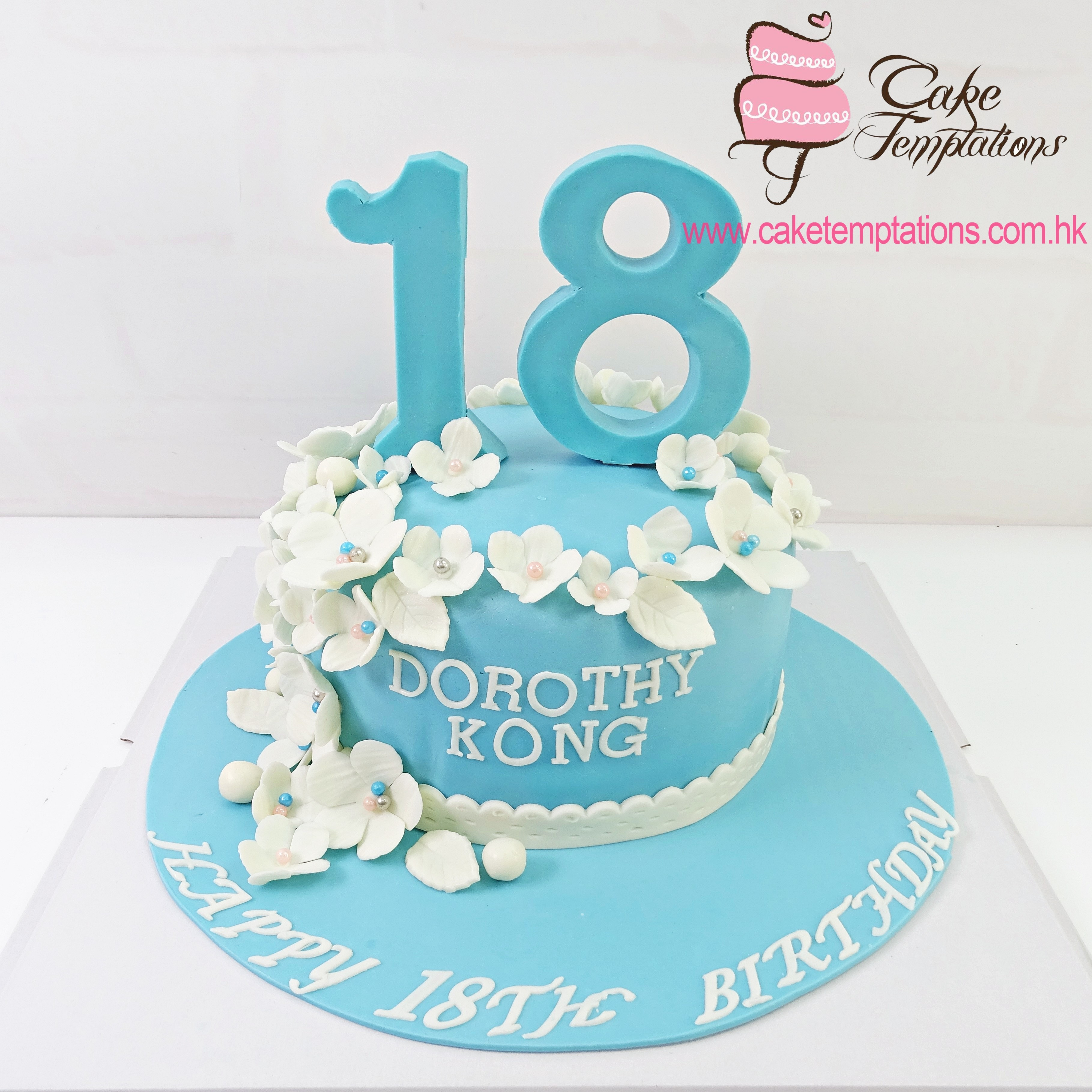 18 Birthday Cake 1 Tier Tiffany Blue 18th Birthday Cake Shaped Number Hundred