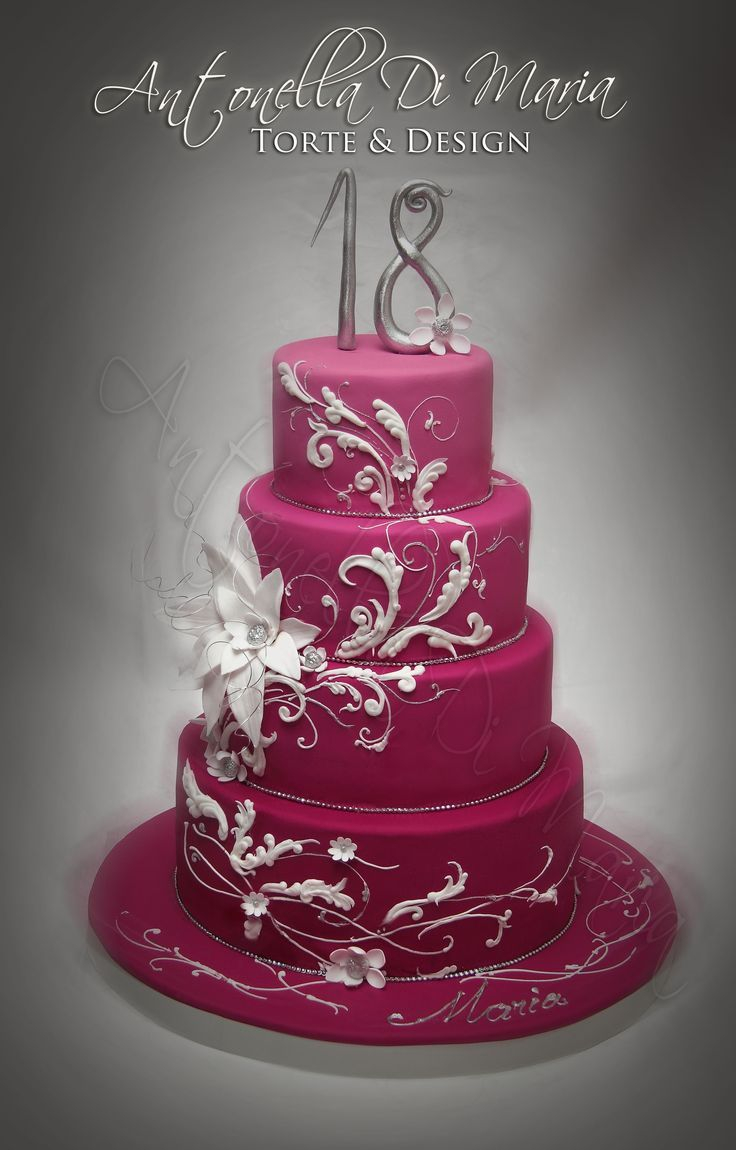 18Th Birthday Cake Designs Elegant 18th Birthday Cakes For Girls Found On Cakecentral