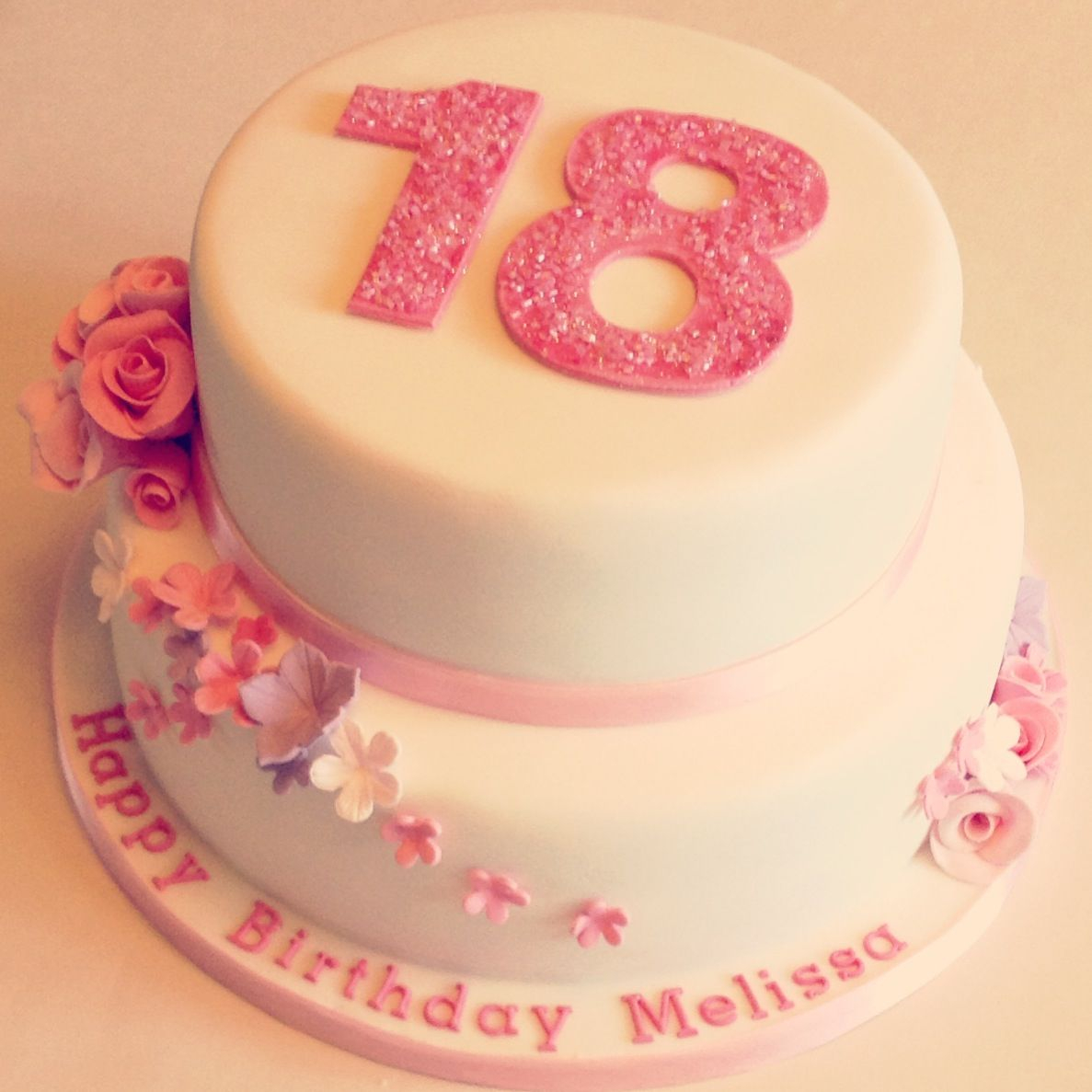 18Th Birthday Cake Designs Floral 18th Birthday Cakes Make The Pink A Mint Green And It Would