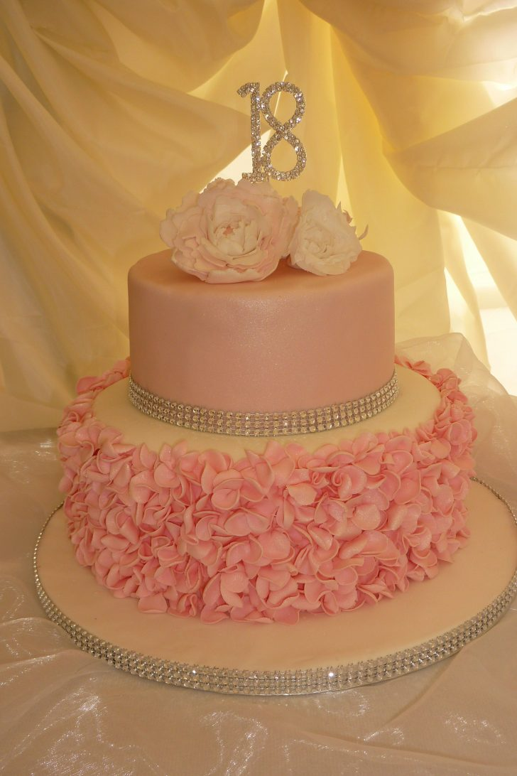 18Th Birthday Cake Designs Pink 18th Birthday Cake We Made Ruffles And Peonies Ideas For
