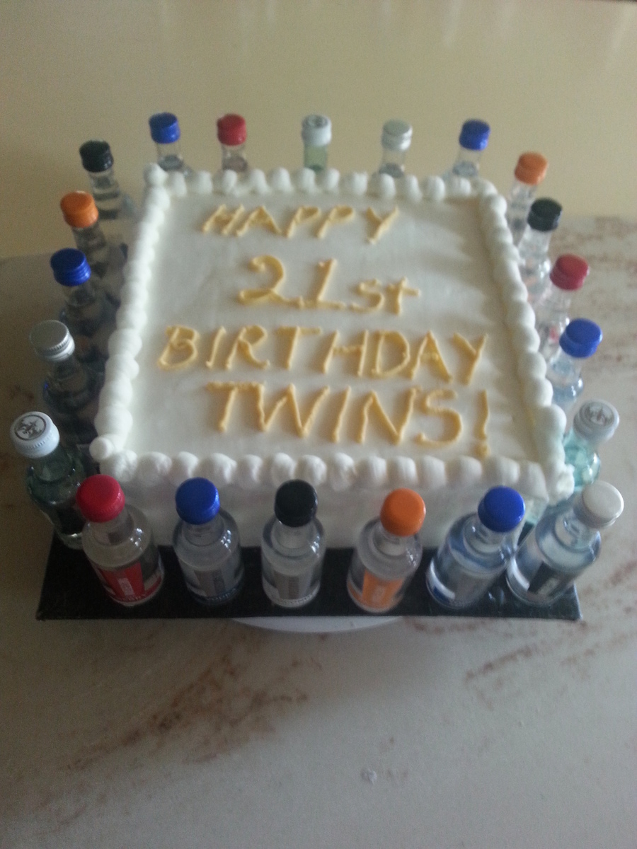 21 Birthday Cakes Twins 21st Birthday Cake Cakecentral