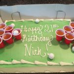 21St Birthday Cake Ideas For Her Beer Pong Cake 21st Birthday Cake Idea Diy Birthday Cake 21st