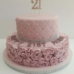 21St Birthday Cake Ideas For Her Glamorous Dusky Pink 21st Birthday Cake21 Covered In Fondant