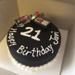 21St Birthday Cake Ideas For Her Simple But Nice Cake For Guys 21st Birthday Baking Pinterest