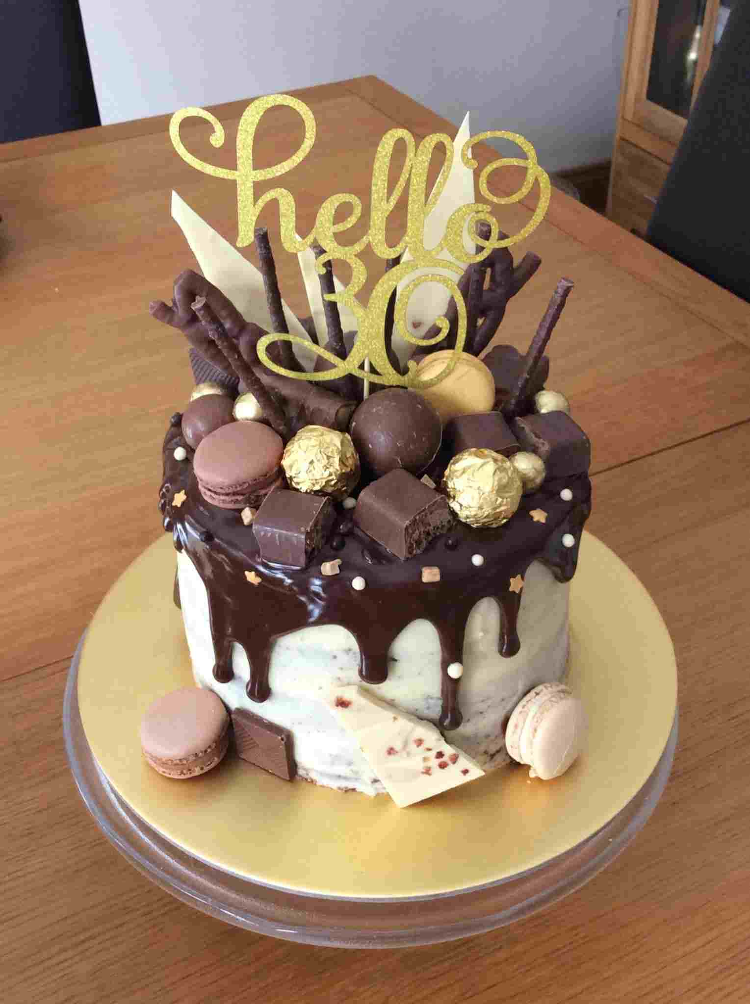 21St Birthday Cakes For Guys For Guys Drip Cake Pinterest And