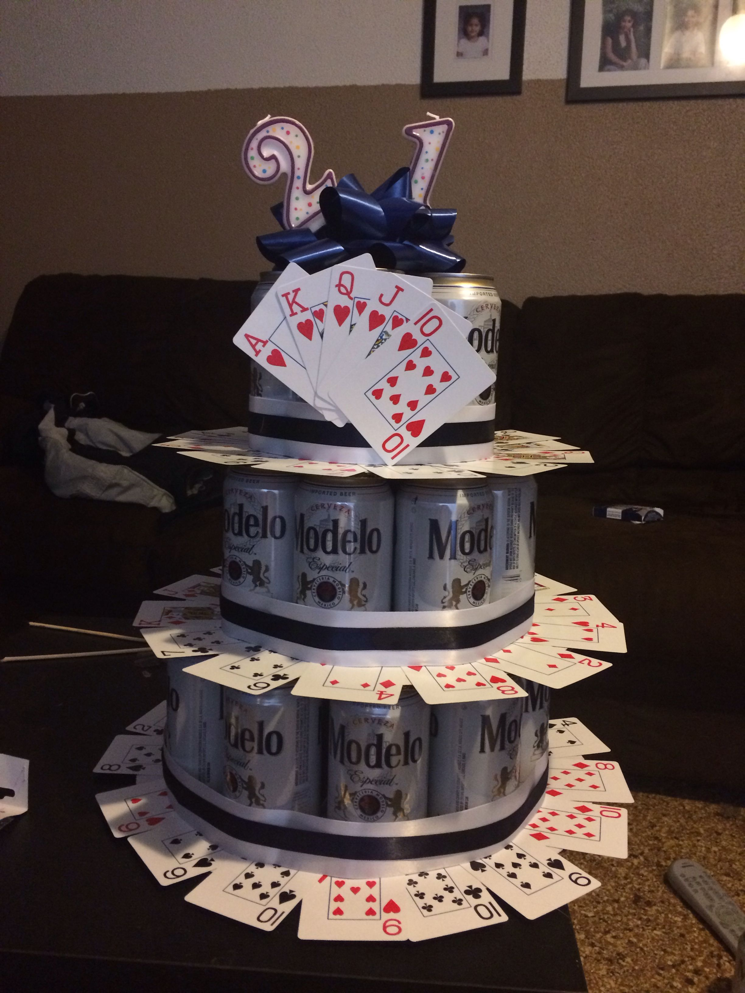 21St Birthday Cakes For Guys Fun 21st Beer Cake Idea A Guy Diy