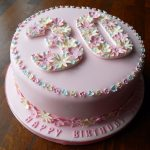 30Th Birthday Cake Ideas For Her Flowery 30th Birthday Cake Fun Cakes Pinterest 30 Birthday