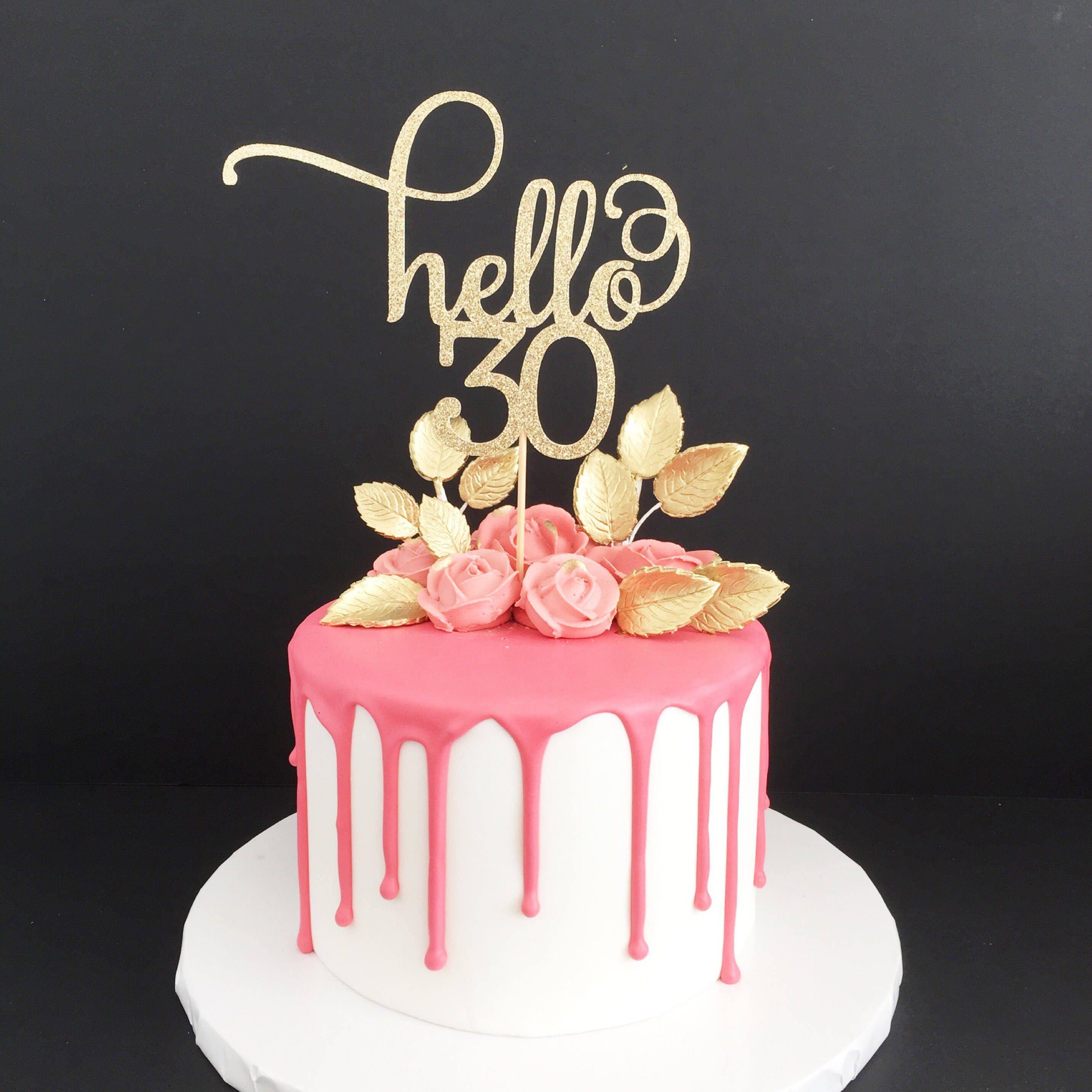 30Th Birthday Cake Ideas For Her Pin Glitter Wedding On Pinterest 30