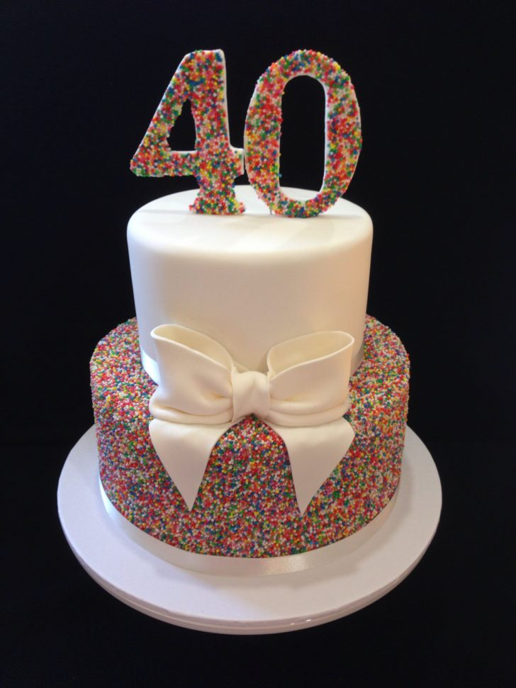 40Th Birthday Cake Ideas 40th Birthday Cake 100s 1000s Love This Look Hundreds And