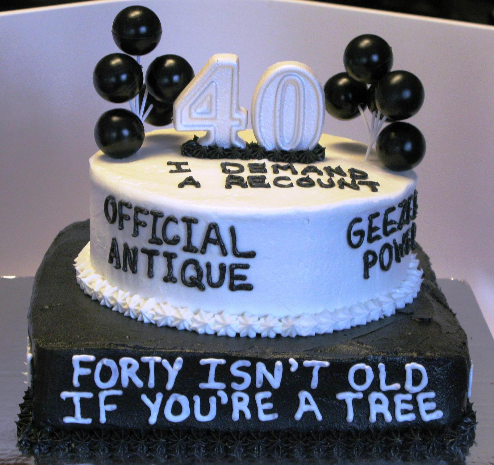 40Th Birthday Cake Ideas 40th Funny Protoblogr Design
