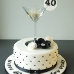 40Th Birthday Cake Ideas 40th Birthday Cake Martini Glass Black And White Quilting Cake