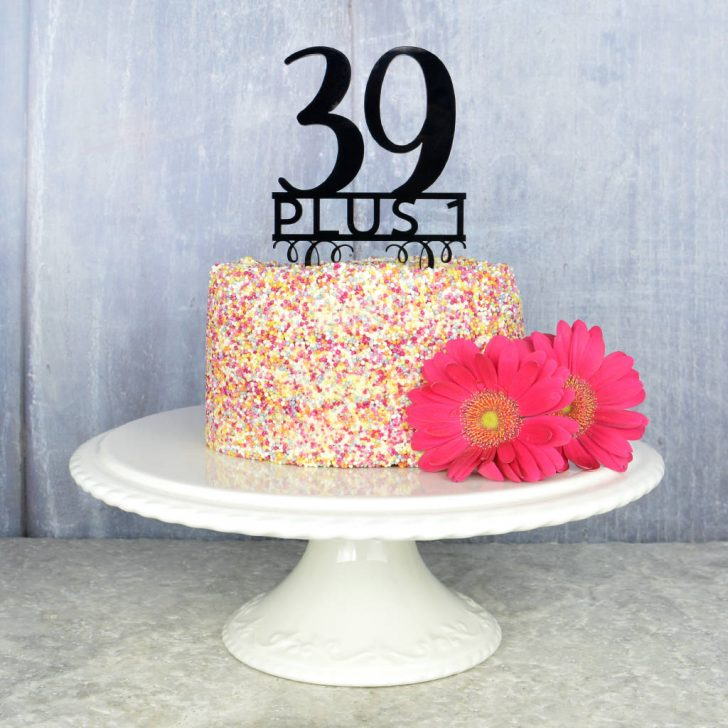 40Th Birthday Cake Ideas 40th Birthday Cake Topper Pink And Turquoise Notonthehighstreet