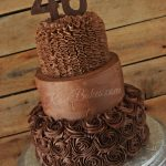 40Th Birthday Cake Ideas All Chocolate 40th Birthday Cake Rose Bakes