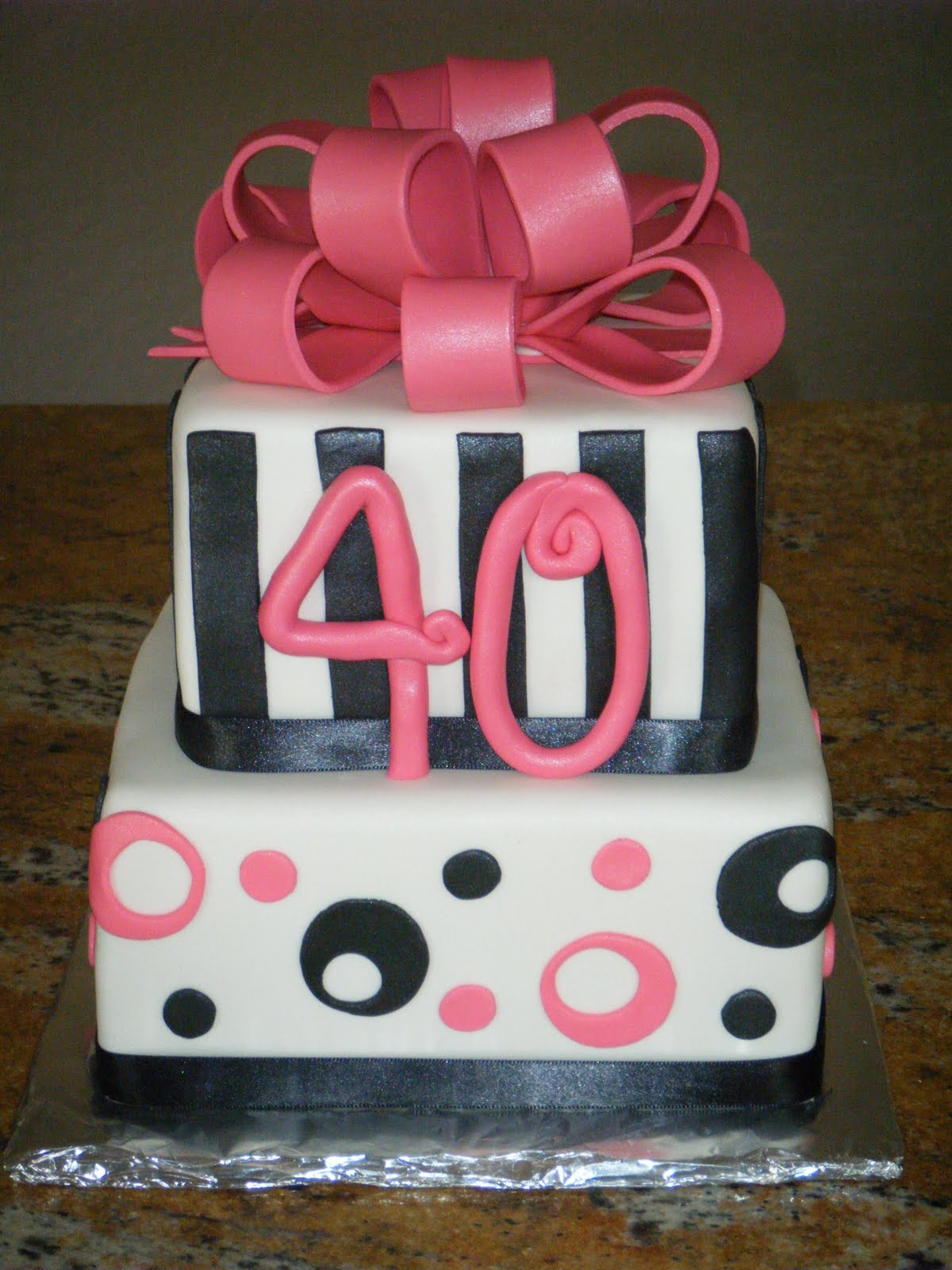 40Th Birthday Cake Ideas For Her 40th Cakes Classic Style Best