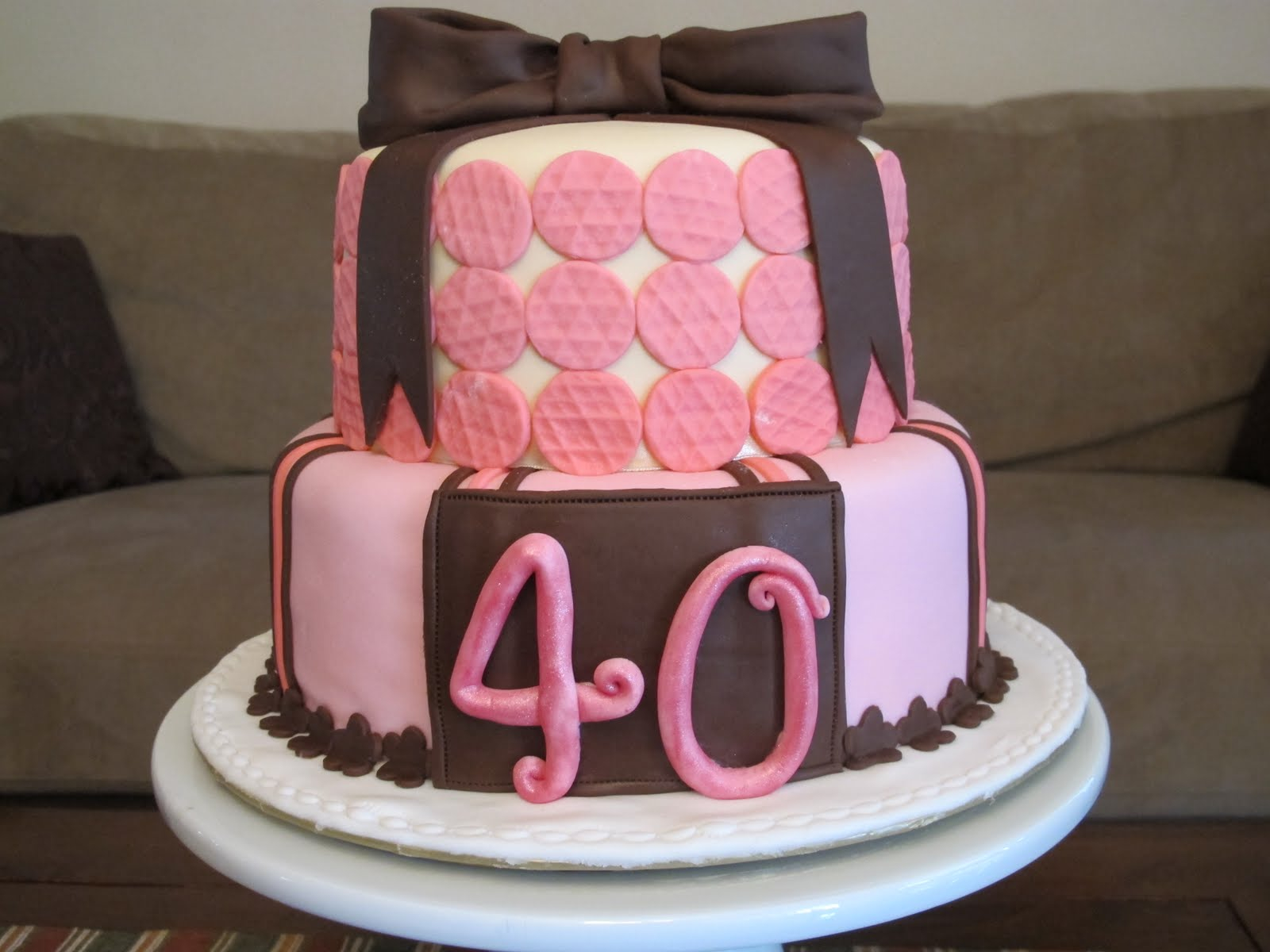 40Th Birthday Cake Ideas For Her 9 40th Cakes Photo Women