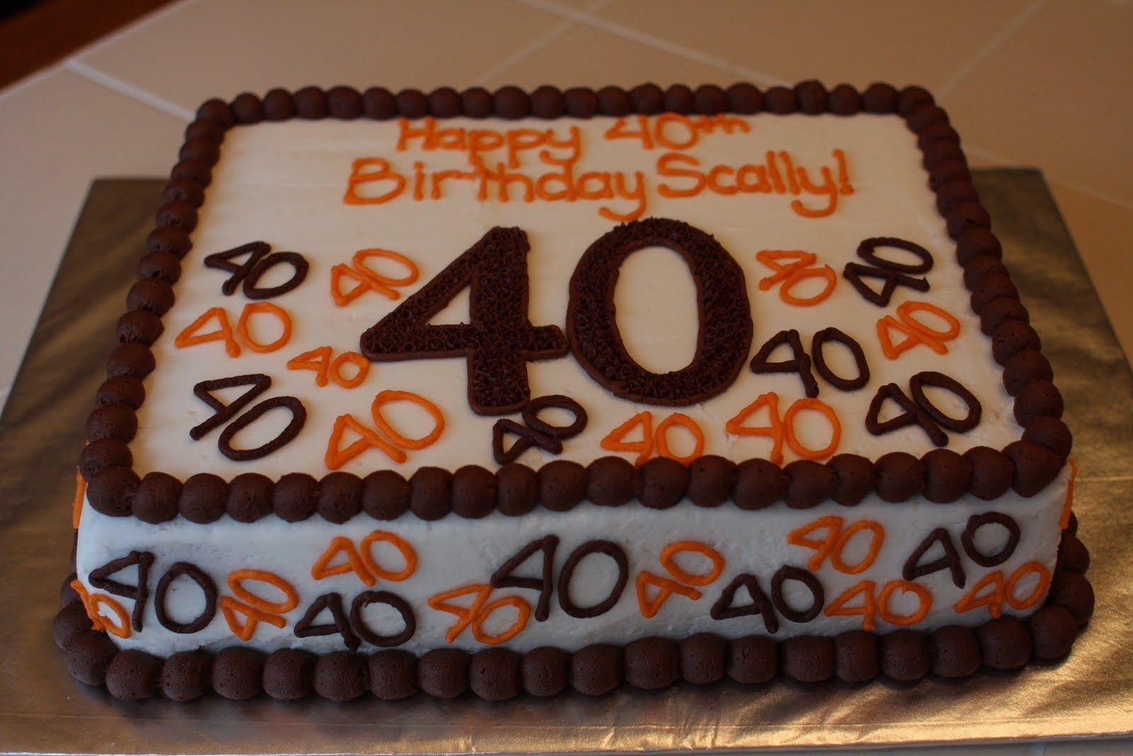 40Th Birthday Cake Ideas For Her Cakes 40th Flower Pink Frightening Happy Images