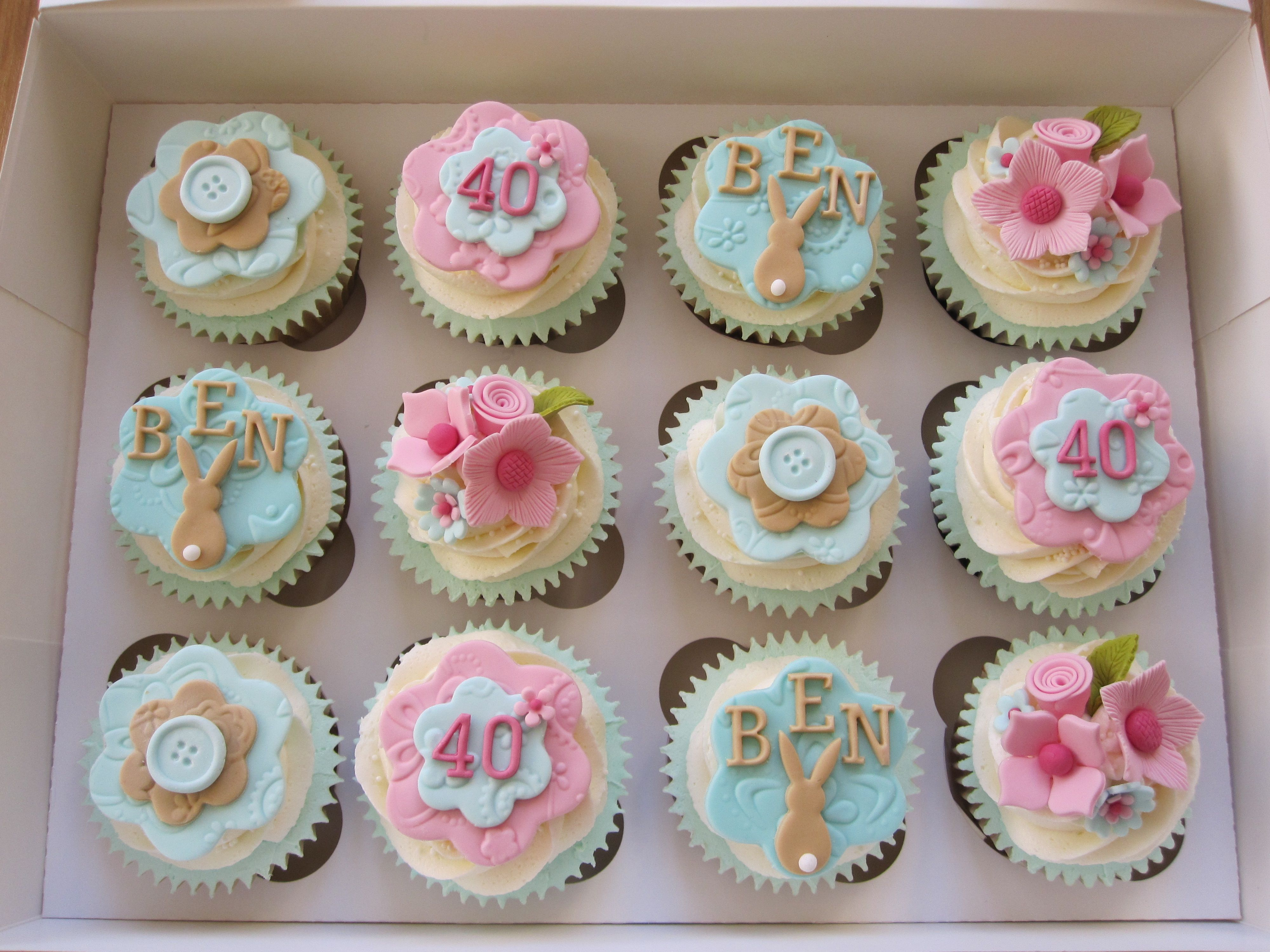 40Th Birthday Cake Ideas For Her Cupcakes Made A Lady Who Was Celebrating 40th And