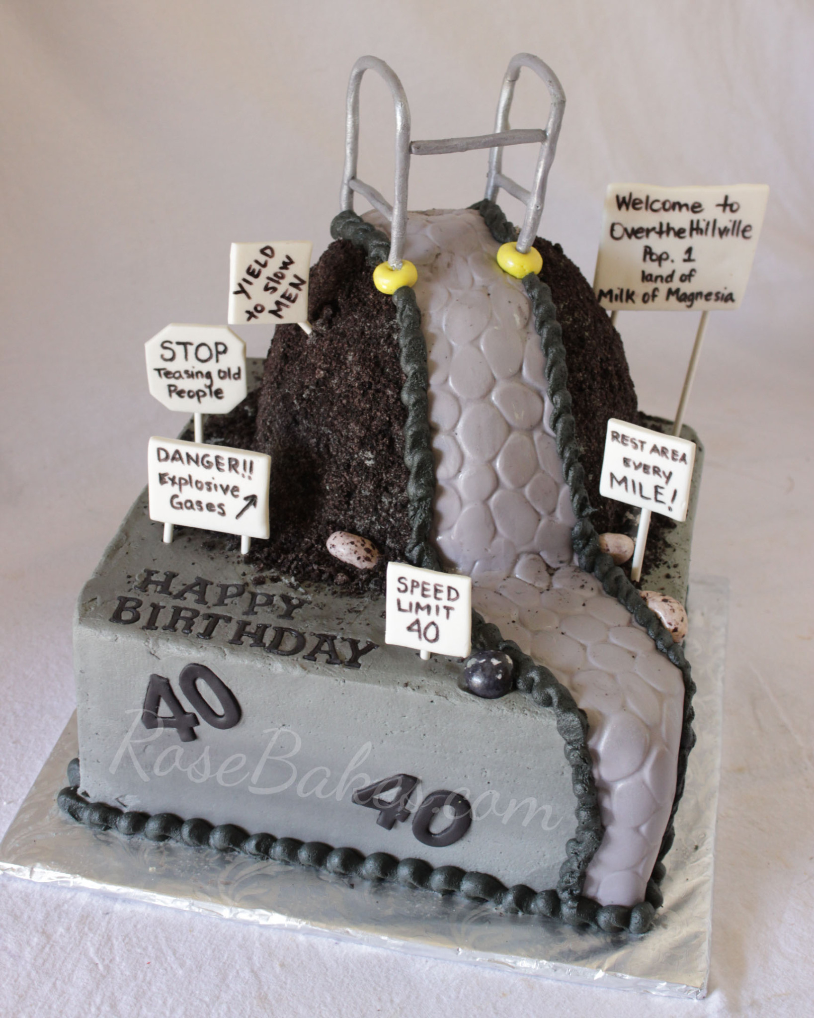 40th Birthday Cake Ideas For Her Over The Hill 40th Birthday Cake