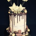 40Th Birthday Cake Ideas Mocha Chocolate Drip Cake For 40th Birthday Recipes To Cook Cake