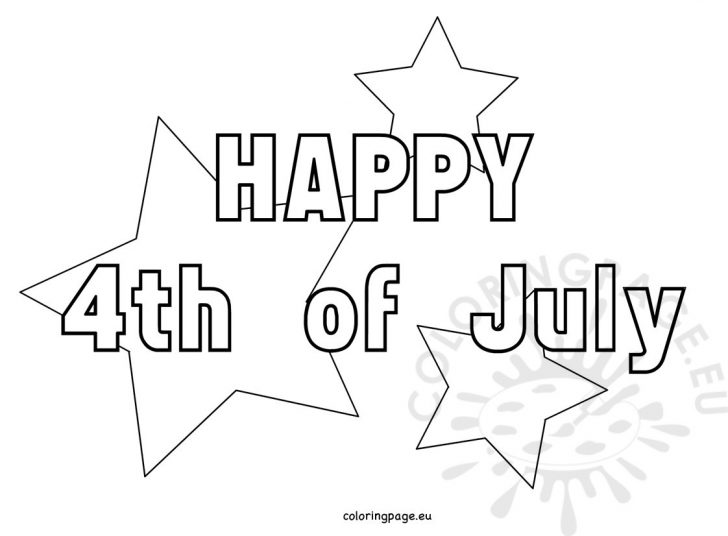 4th Of July Coloring Pages 4th July Coloring Pages With Stars Coloring Page