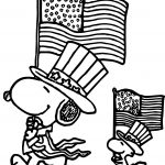 4th Of July Coloring Pages 4th July Snoopy Coloring Page Wecoloringpage