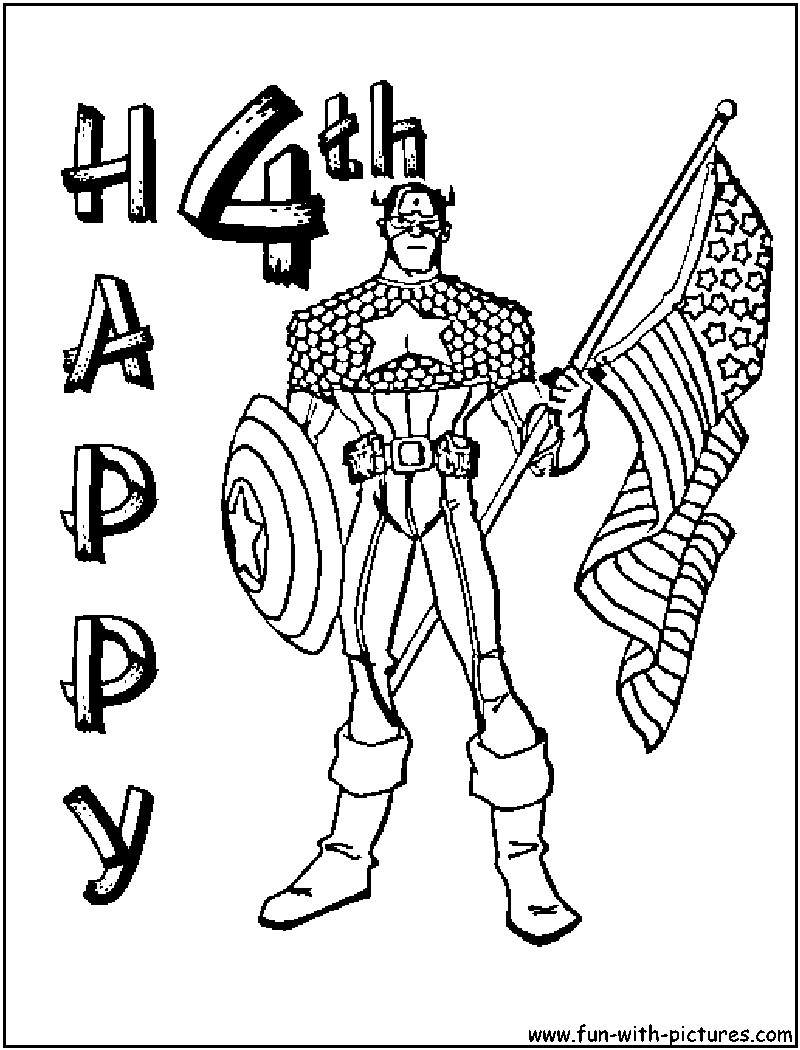 4th Of July Coloring Pages Independence Day Of 4th July Coloring Page For Kids In Pages 4 3