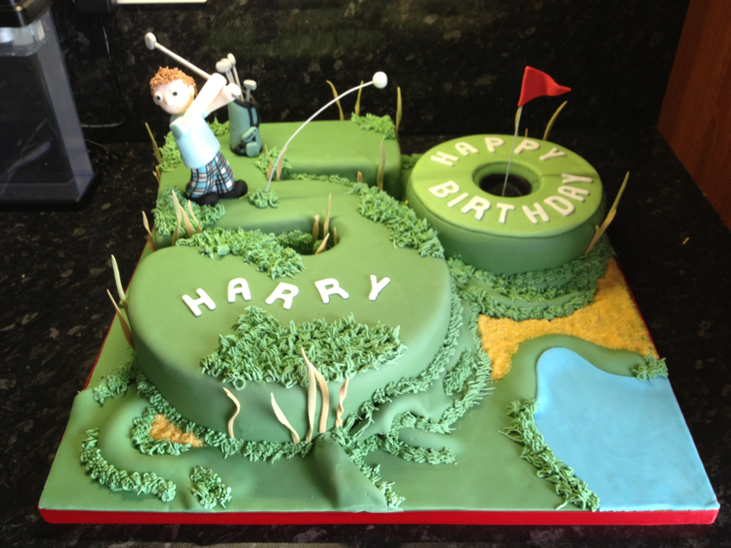 50Th Birthday Cake Ideas For Him 10 Male Birthday Golf Cakes Photo Mens 50th Birthday Cake Ideas
