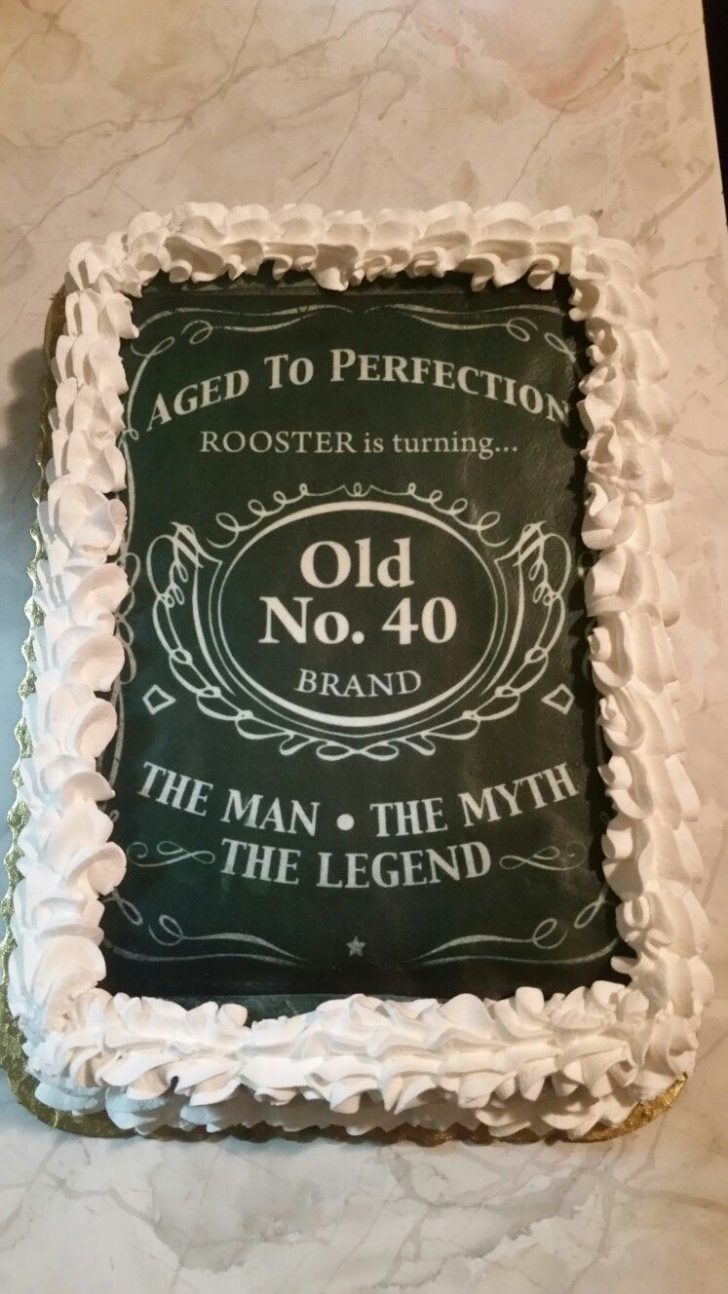 50Th Birthday Cake Ideas For Him 40th Birthday Cakedesigned After Jack Daniels For The Man The