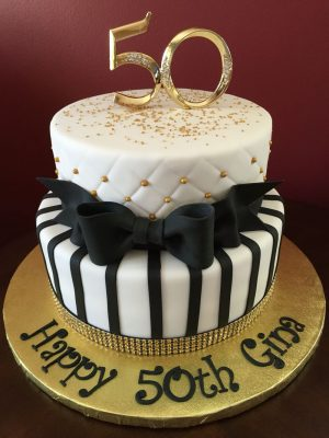 50Th Birthday Cake Images Black And Gold 50th Birthday Cake Birthday Cakes Pinterest