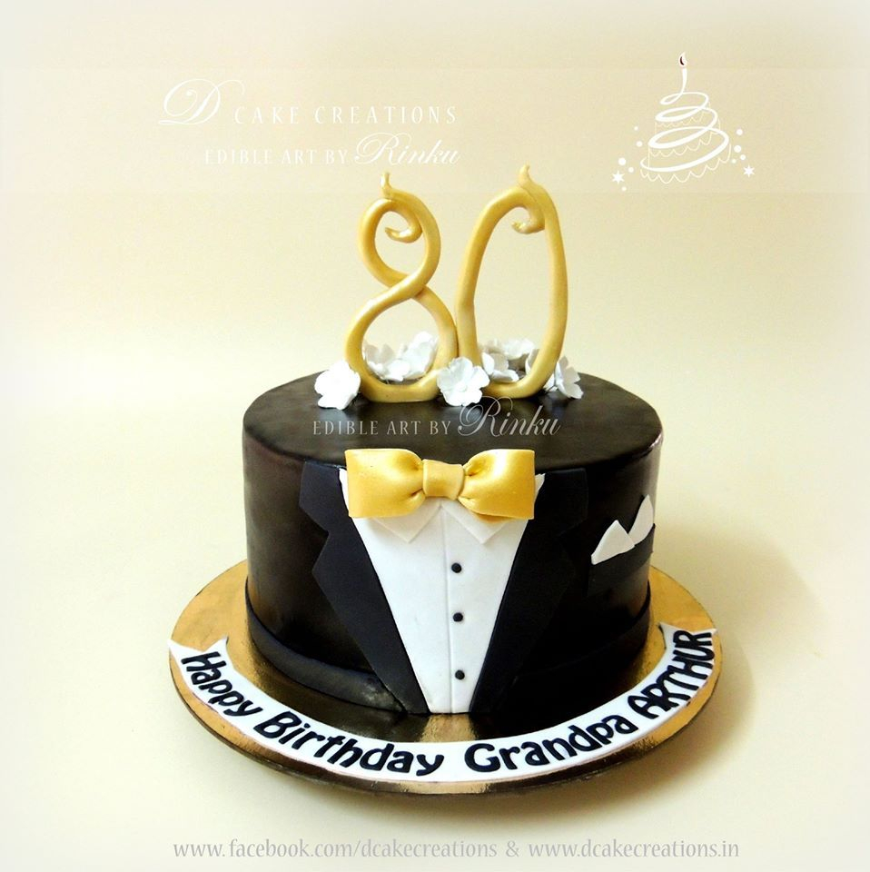 50Th Birthday Cakes For Men Simple Yet Sophisticated Suit Birthday Cake For 80th Birthday