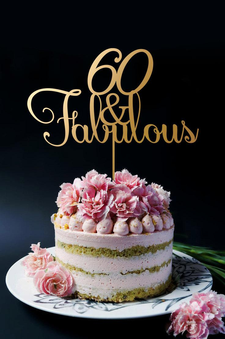 60Th Birthday Cake Toppers 60th Birthday Cake Topper 60th Anniversary Cake Topper 60 And