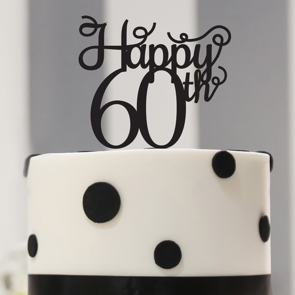 60Th Birthday Cake Toppers 60th Topper Anniversary 60 And Birthdayanniversary