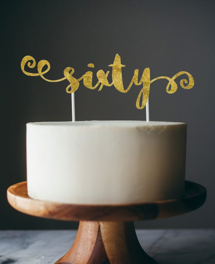 60Th Birthday Cake Toppers 60th Birthday Cake Topper Sixty Cake Topper Party Pinterest
