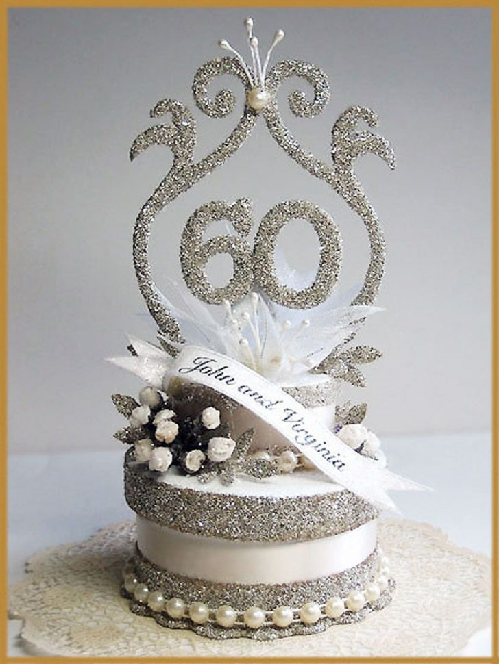 60Th Birthday Cake Toppers 60th Wedding Anniversary Cake Topper Picture In Wedding Cake