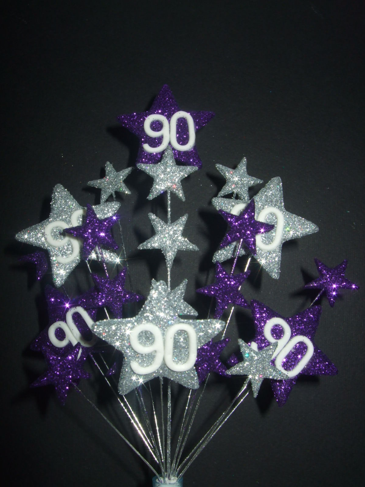 60Th Birthday Cake Toppers Birthday Cake Topper Purplesilver 18th21st30th40th50th60th