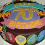 70Th Birthday Cake 70th Birthday Cake Jans Occasional Cakes