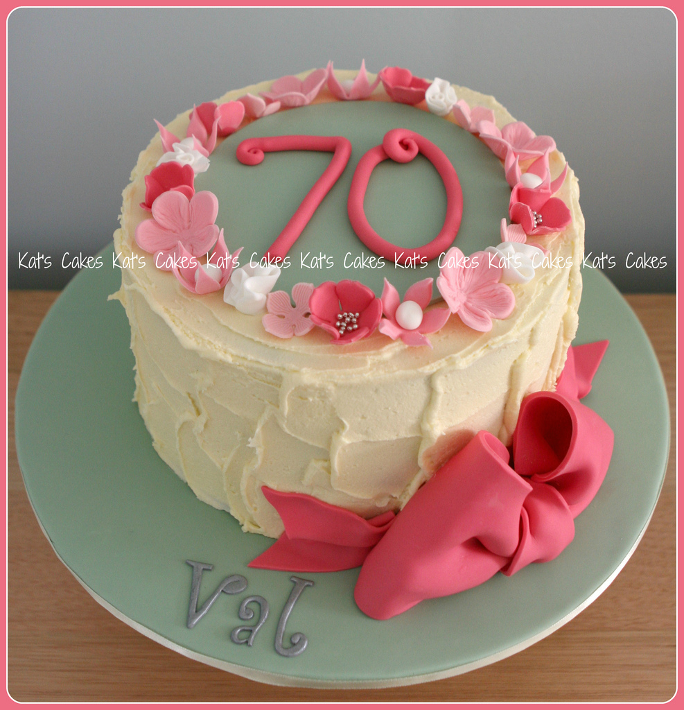 70Th Birthday Cake Mums 70th Happy Mum Cho Flickr