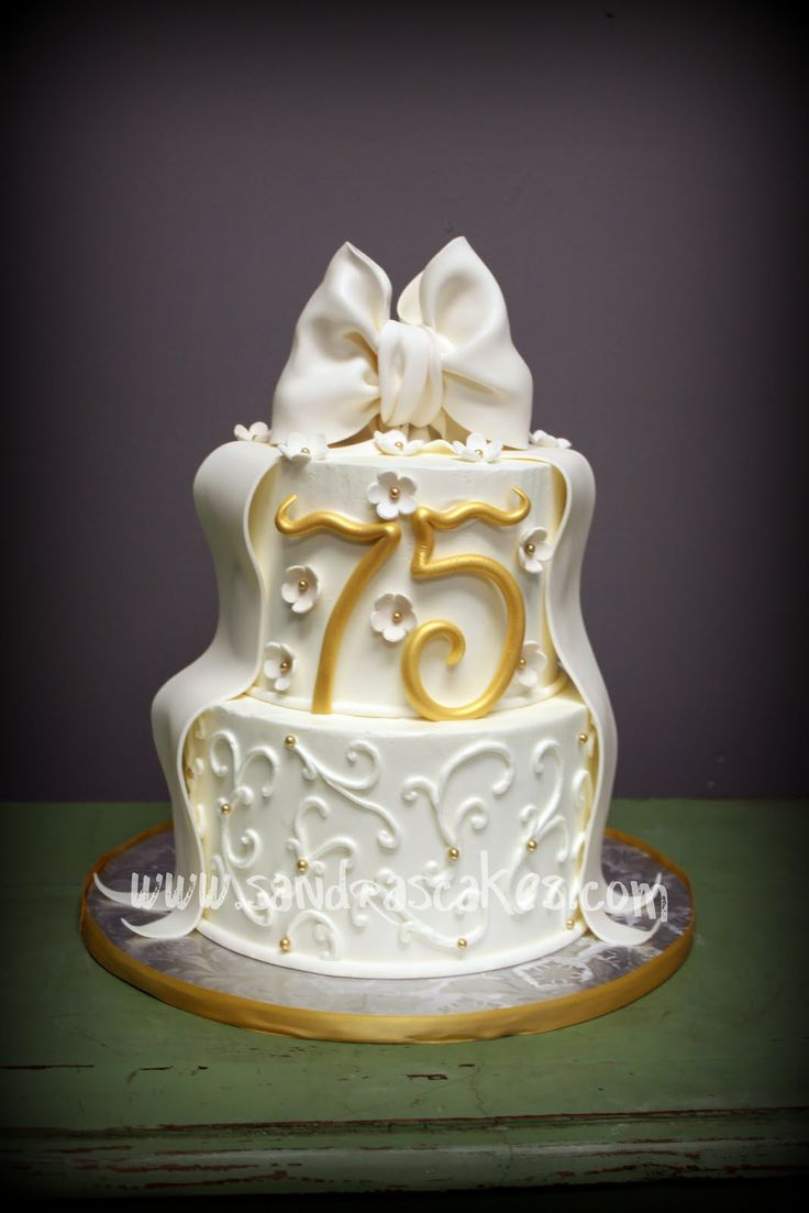 1103 In 25 Exclusive Image Of 75Th Birthday Cake