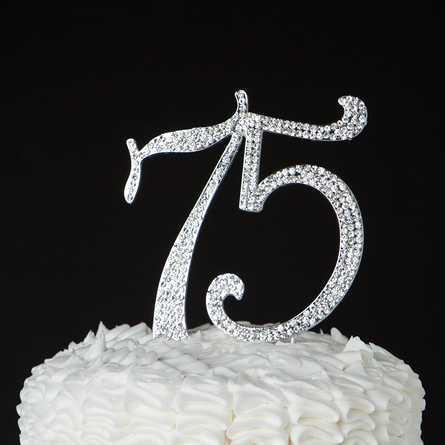 75Th Birthday Cake 75 Topper For 75th Or Anniversary Party Crystal