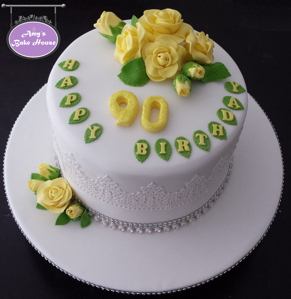 90Th Birthday Cake Ideas 90th Birthday Cake Amys Bake House