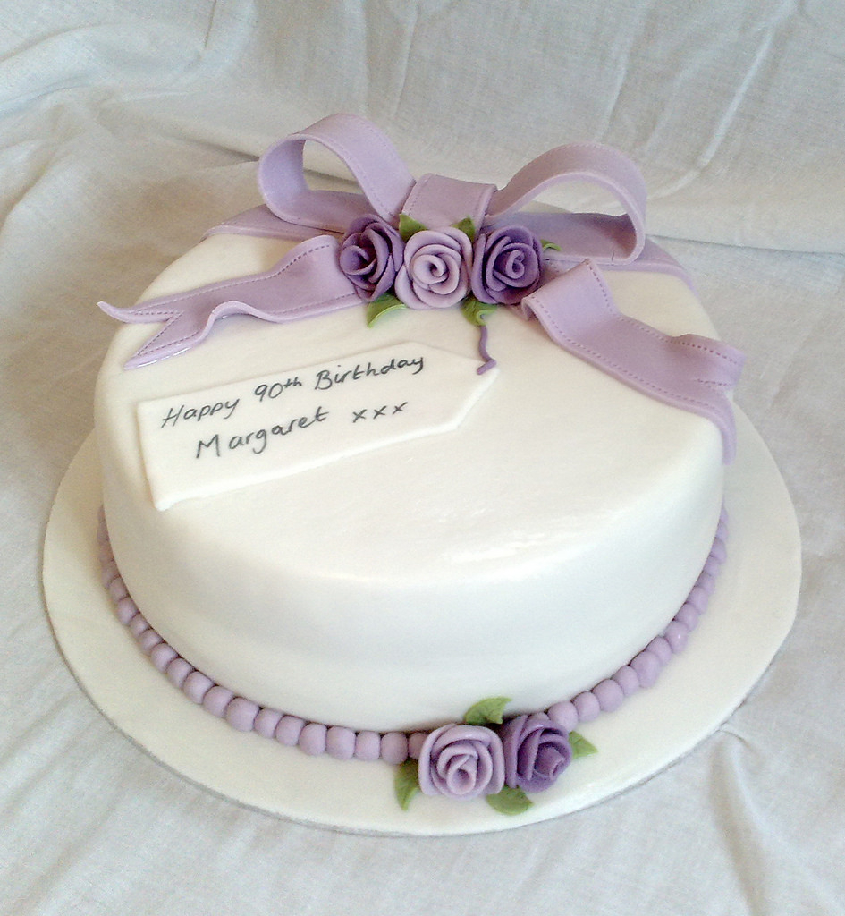 90Th Birthday Cake Ideas 90th Birthday Cake Paula Williams Flickr