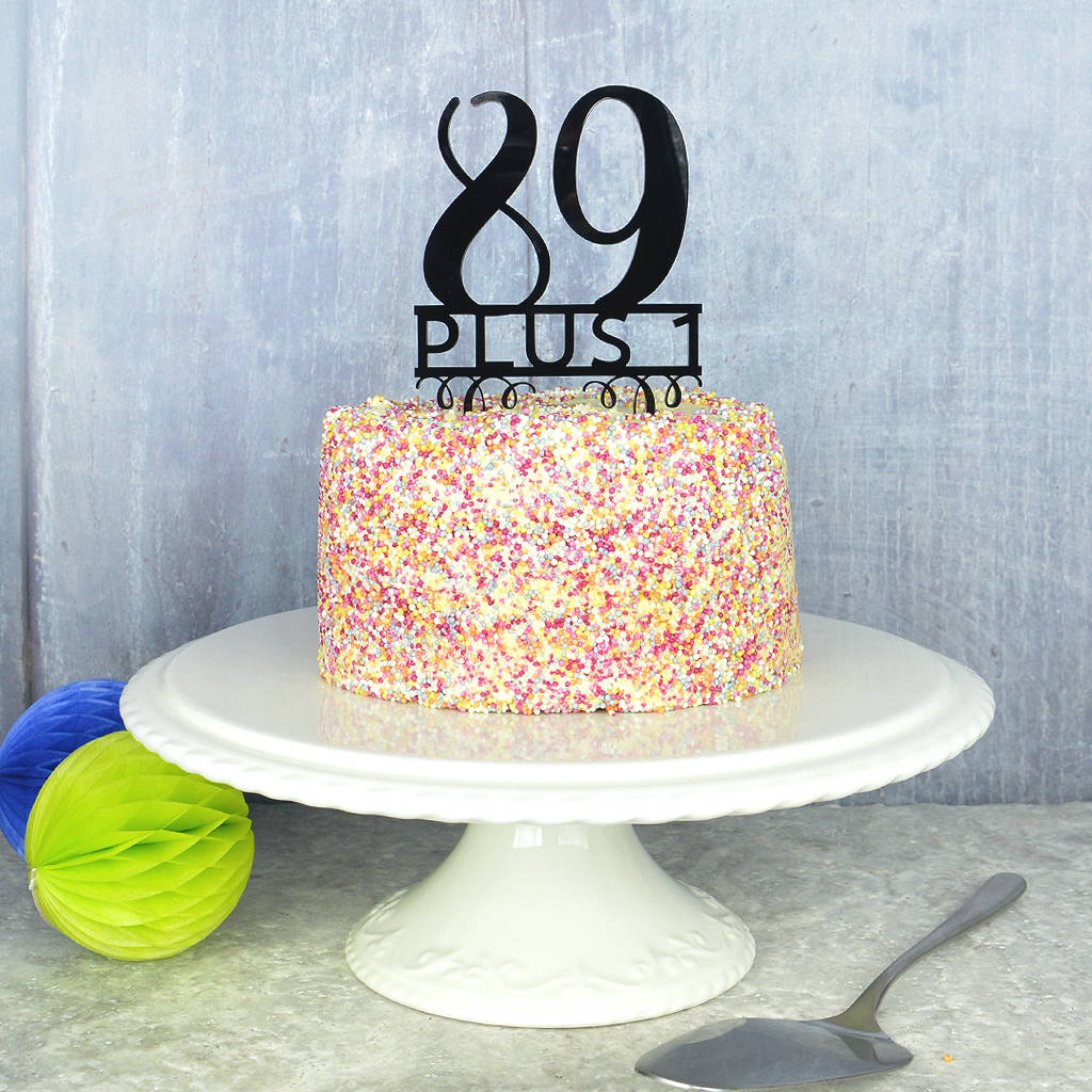 90Th Birthday Cake Ideas 90th Birthday Cake Topper Pink And Turquoise Notonthehighstreet