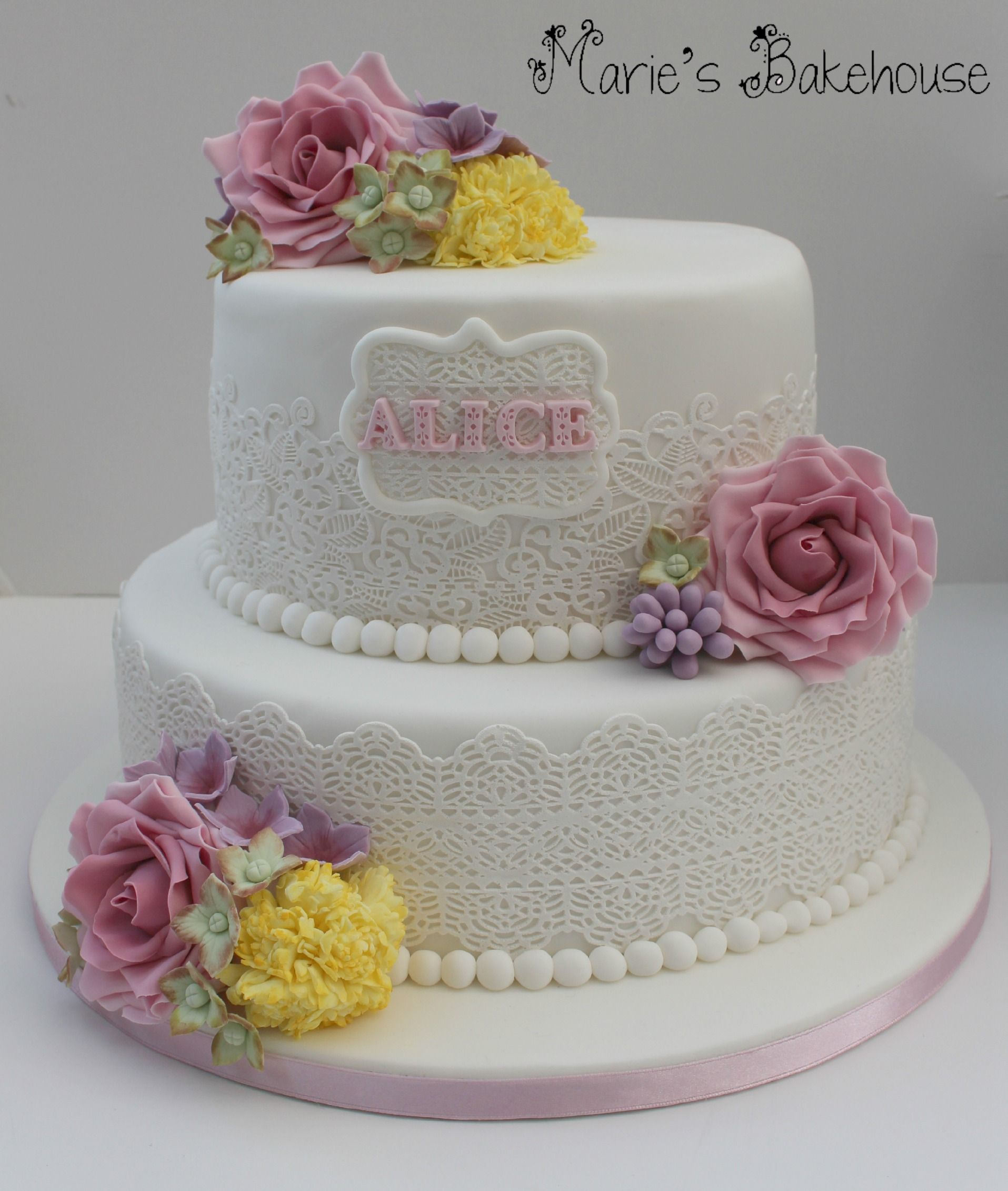 90Th Birthday Cake Ideas Alice Cake For My Grans 90th Birthday Cake Lace And Hand Made