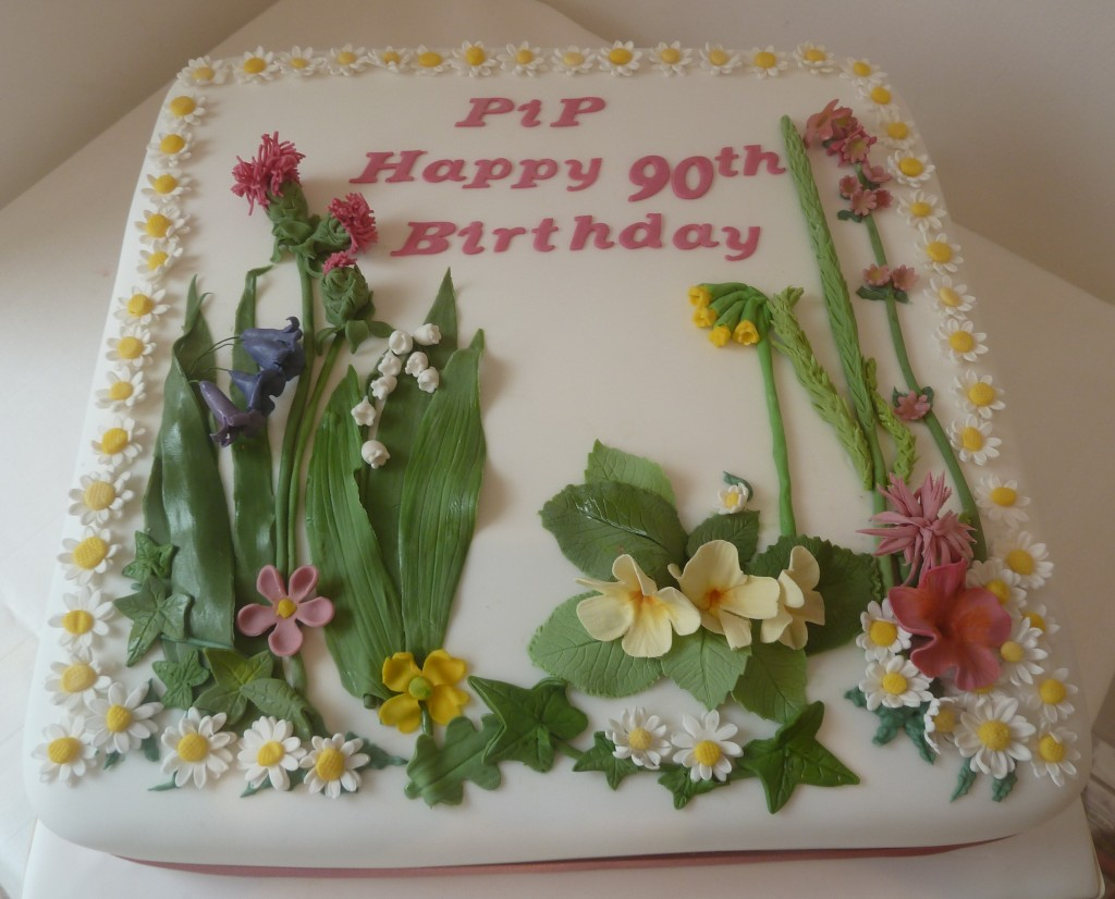 90Th Birthday Cake Ideas Wildflower 90th Birthday Cake Wedding Birthday Cakes From