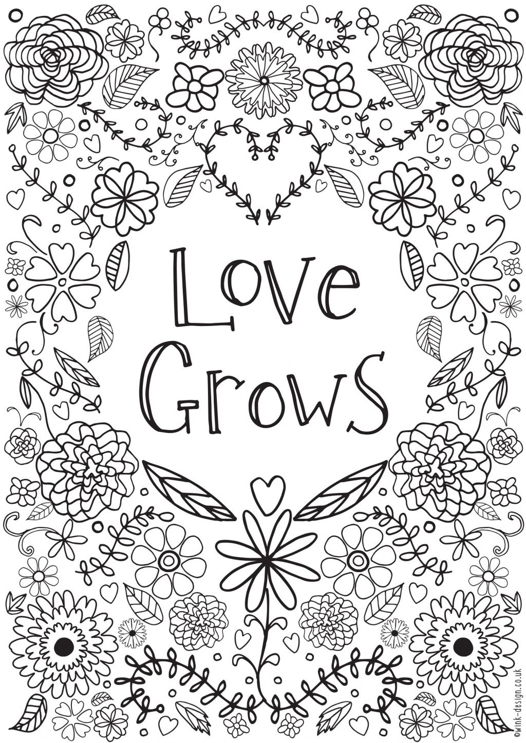Great Image of Adult Coloring Pages Quotes