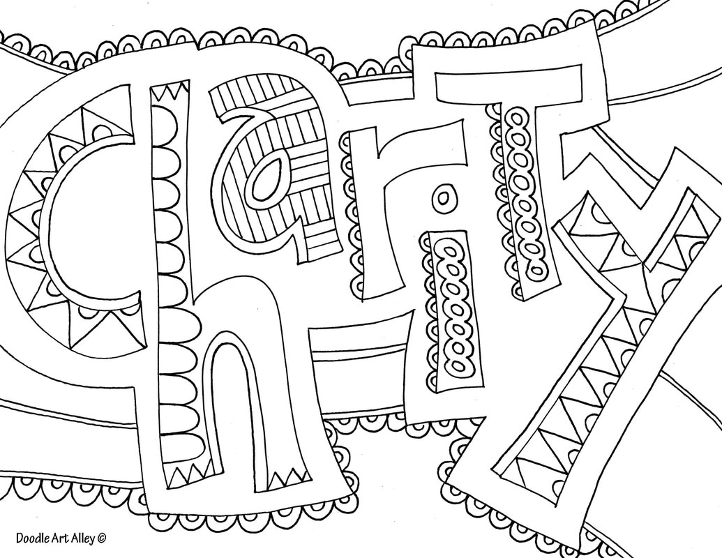 Adult Coloring Pages Word Coloring Pages Doodle Art Alley