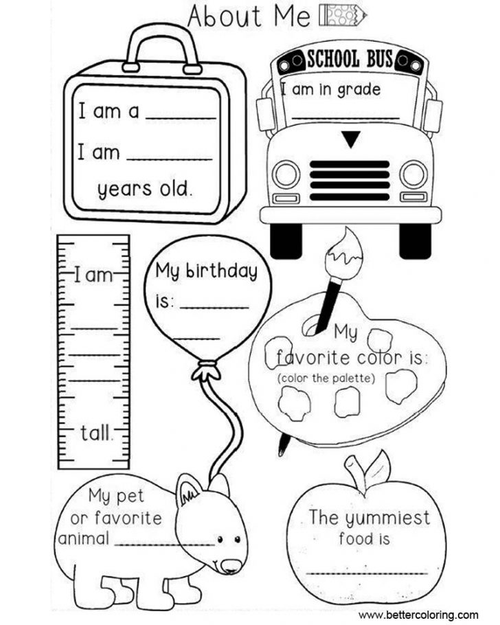 All About Me Coloring Pages Preschool All About Me Coloring Pages Worksheets Free Printable