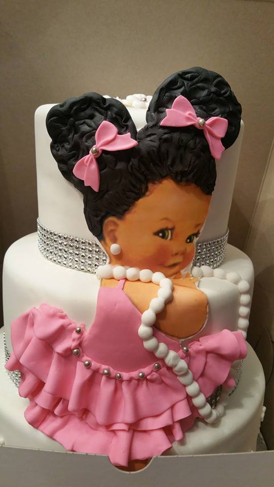 American Girl Birthday Cake African American Girl Cake Cakecentral